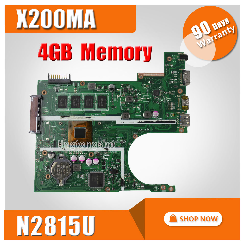 все цены на X200MA FOR ASUS laptop motherboard N2830U 2815U REV2.1 X200MA 4GB Main board DDR3 90NB04U1-R00030 Free Shipping