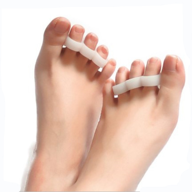 1pair Hammer Toe Slicone Gel Corrector Tools Orthotic Feet Care Separator Reduce Friction And Pain For Lady High Heel Shoes