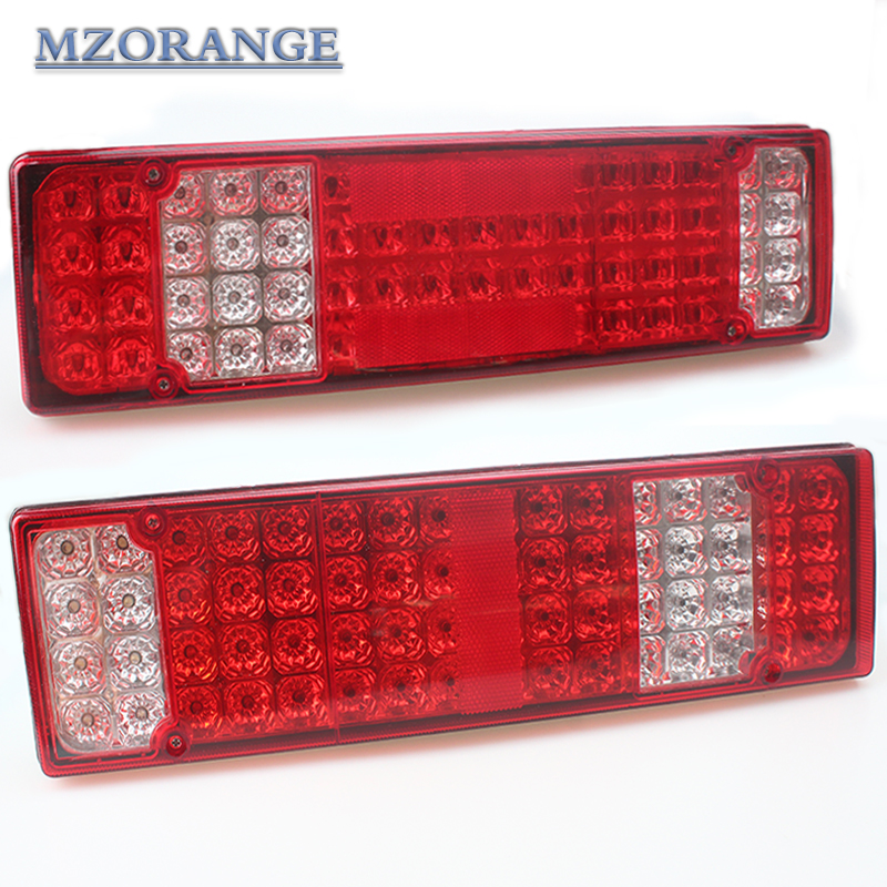 2PCS High Quality Caravan LED Trailer Tail Lights 12V 24V 52 LED Trailer Truck Van Camper