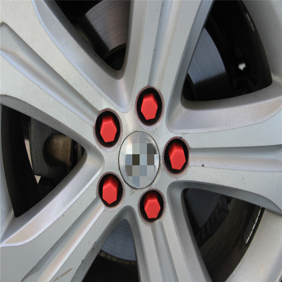 Silicone Car <font><b>Wheel</b></font> Hub Screw Cover Nut Caps Bolt Rims Protection For <font><b>Peugeot</b></font> 206 307 <font><b>406</b></font> 407 207 208 308 508 2008 3008 4008 6008 image