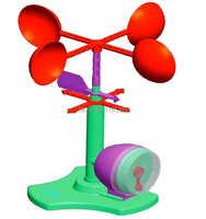 Enfants adolescents enfants science scientifique modèles éducatifs jouets expérimentaux matériaux anémomètre test expérience