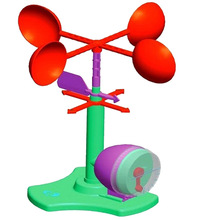 Teenage children kids scientific science educational models experimental toy materials anemometer test experiment