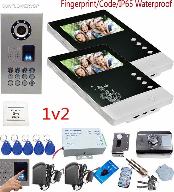 SUNFLOWERVDP Video Türsprechanlage Fingerprint CCD Türsprechanlage ...