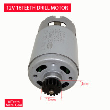Good quality 12V 16 Teeth DC Micro Gear Motor replace OD13mm motor is used for Bosch electric drill screw machine. dc 18v motor and switch n342741 replace for dewalt dcs355
