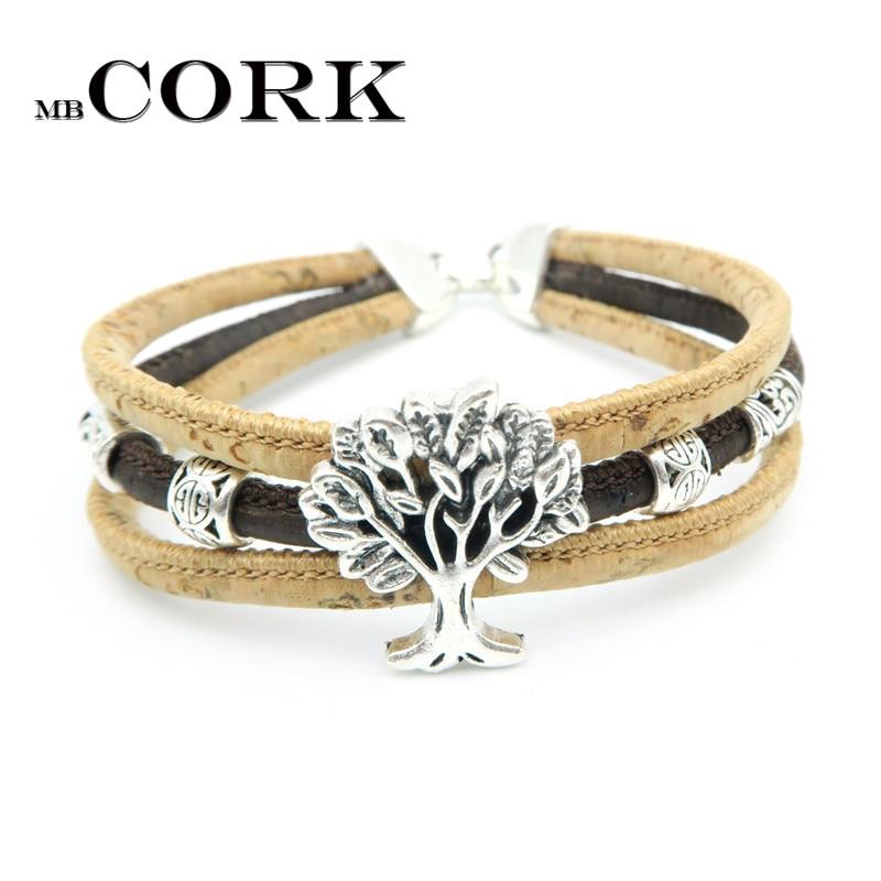 Cork Jewelry: MB Cork Life Of Tree Cork Bracelet For Women Natural
