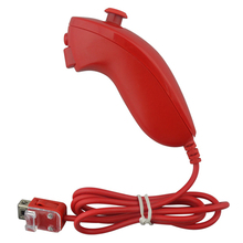 1PCS Remote Video Game Controller Handle Left Hand Nunchuck Controller  for W-i-i  Big red Gamepad