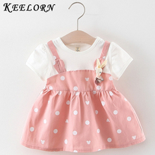 Keelorn Baby Girl Dresses New Spring Summer Girls Baby Princess Dress Party Dresses Sleeve Cotton Little Girls Clothing arrival new 2017 princess summer baby girls black dress white polka dots children fashion dresses for little girl dresses