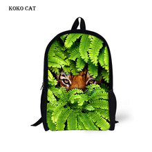 Cool Children School Bags Funny Jungle Tiger Color Space Pet Printing Backpack for Teenage Boys Girls Kids Book Bags Mochila forudesigns fashion men backpacks cool 3d animal tiger printing school backpack for teenage boys children mochila rucksack man