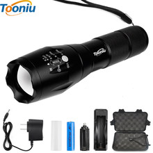 Big Promotion Ultra Bright CREE XM-L T6 LED Flashlight 5 Modes 4000 Lumens Zoomable LED Torch 18650 Battery + Charger + Clip(China)
