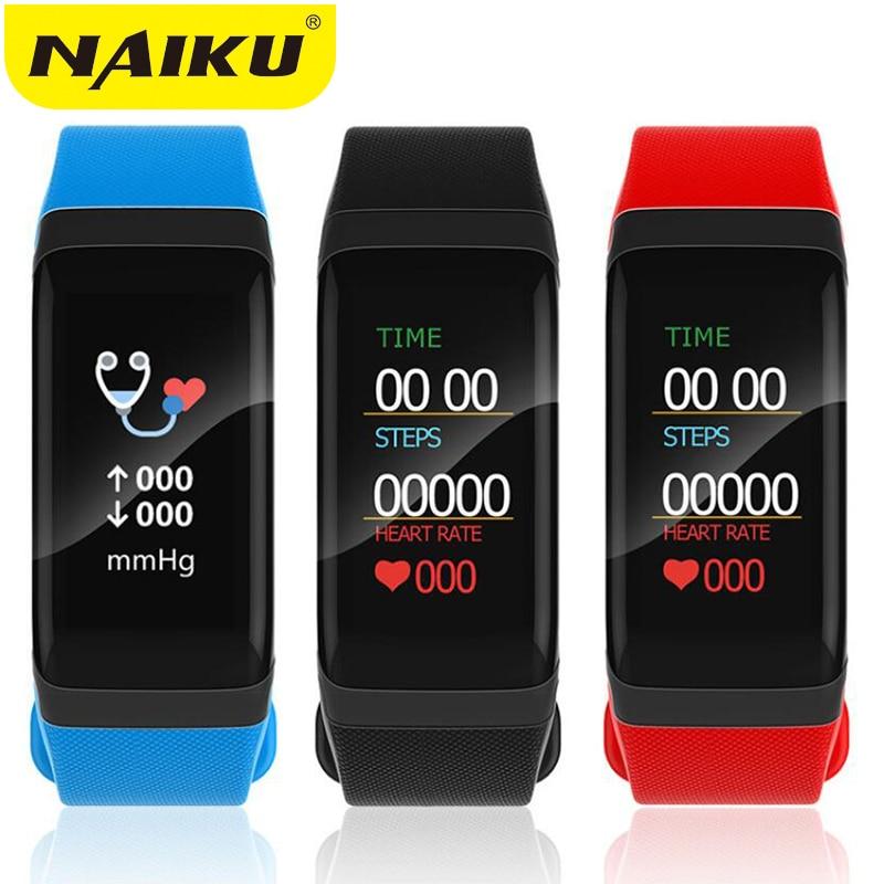 Pulsera de Fitness impermeable Bluetooth Color Lcd pantalla deporte muñequera relojes inteligentes ritmo cardíaco rastreador Pk fitbits miband2
