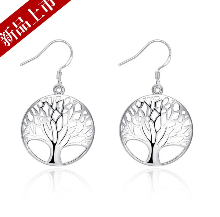 2018 Real Limited Trendy Wholesale 925 Jewelry Earrings Women Tree Of Lifer Ear Rings Design Diy Compatible With Original Charm
