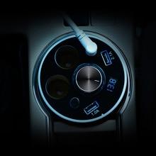 Автомобильное зарядное устройство подстаканник двойной розетки прикуривателя адаптер питания 2 USB порта с Bluetooth наушники для iPhone 5S/ 6/7 Plus