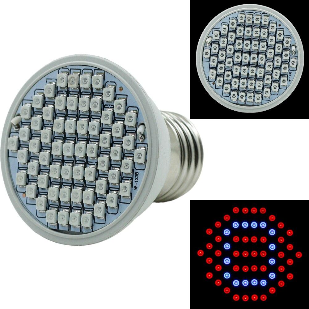 Светодио дный 6 Вт растет свет завод лампы 60 светодио дный LED s красный + синий цветок для Гидропоника гроубокс внутреннего освещения Phytolamp ...