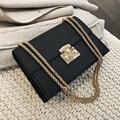 Elegante Weibliche Kleine Quadratische Tasche 2020 Mode Neue Qualität PU Leder frauen Designer Handtasche Schloss Kette Schulter Messenger taschen|Schultertaschen|   -
