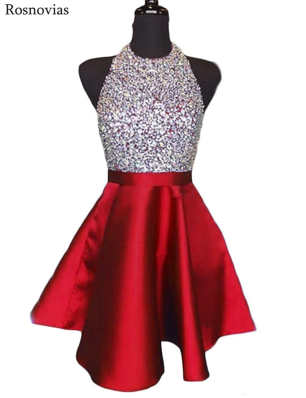 Image 5 - Luxury Short Graduation Dresses 2020 Halter Backless Prom Party  Gowns Vestidos Mini Crystal Homecoming Dresses CustomizedHomecoming  Dresses