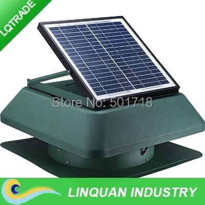 15W 14 inch Solar attic exhaust fan,high efficacy air draft design/1650 CFM