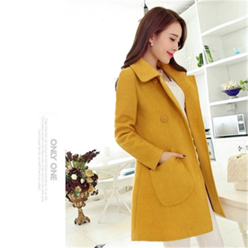Donne 2018 Del Cappotto Elegante Di Stile Delle Signore Formato Qualità Più Sottile Alta Modo Coreano Il Giallo Spring Progettista ZgWgRt