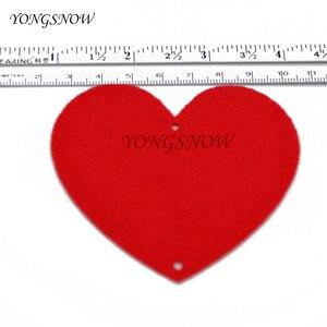 Image 2 - 5 مجموعات (80 قطعة) 2 حجم القلب جارلاند مع 3m حبل حلية لتقوم بها بنفسك الستار ورأى غير المنسوجة للمنزل حفل زفاف عيد الحب الديكور
