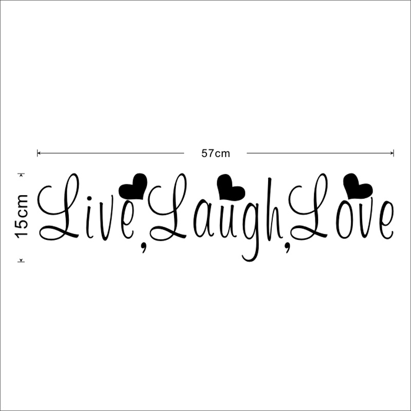 Live Laugh Love Wall Sticker 4