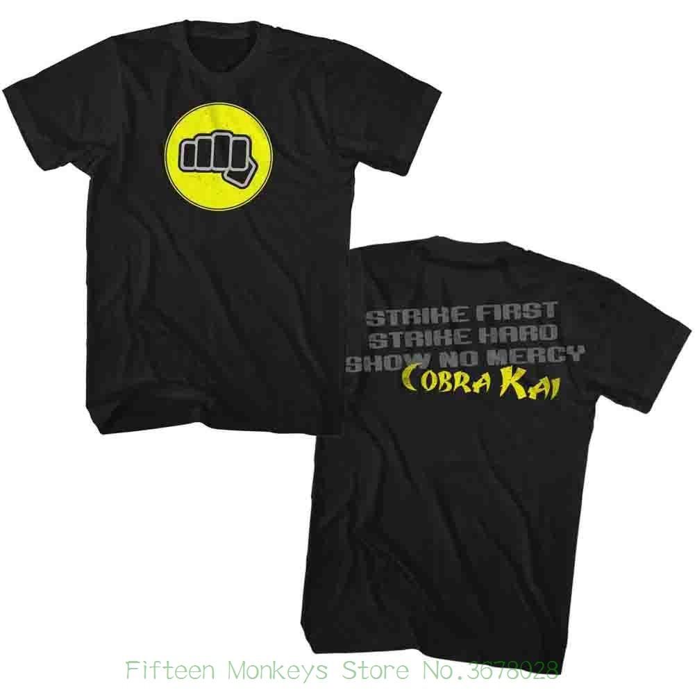 Хлопковые рубашки Дешевые оптовая каратэ малыш первый удар черный взрослых футболка с короткими рукавами