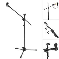 Profissional swing boom piso suporte de metal microfone suporte tripé estágio ajustável