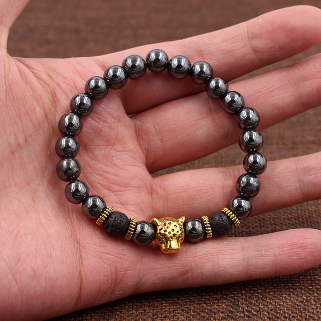 Купить браслет с бусинами из гематита 8 мм винтажный браслет золотого