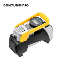 DONYUMMYJO NEW LED Light Low Noise Cylinder Motorcycles Car Air Compressor Car Tire Inflatable Pump For