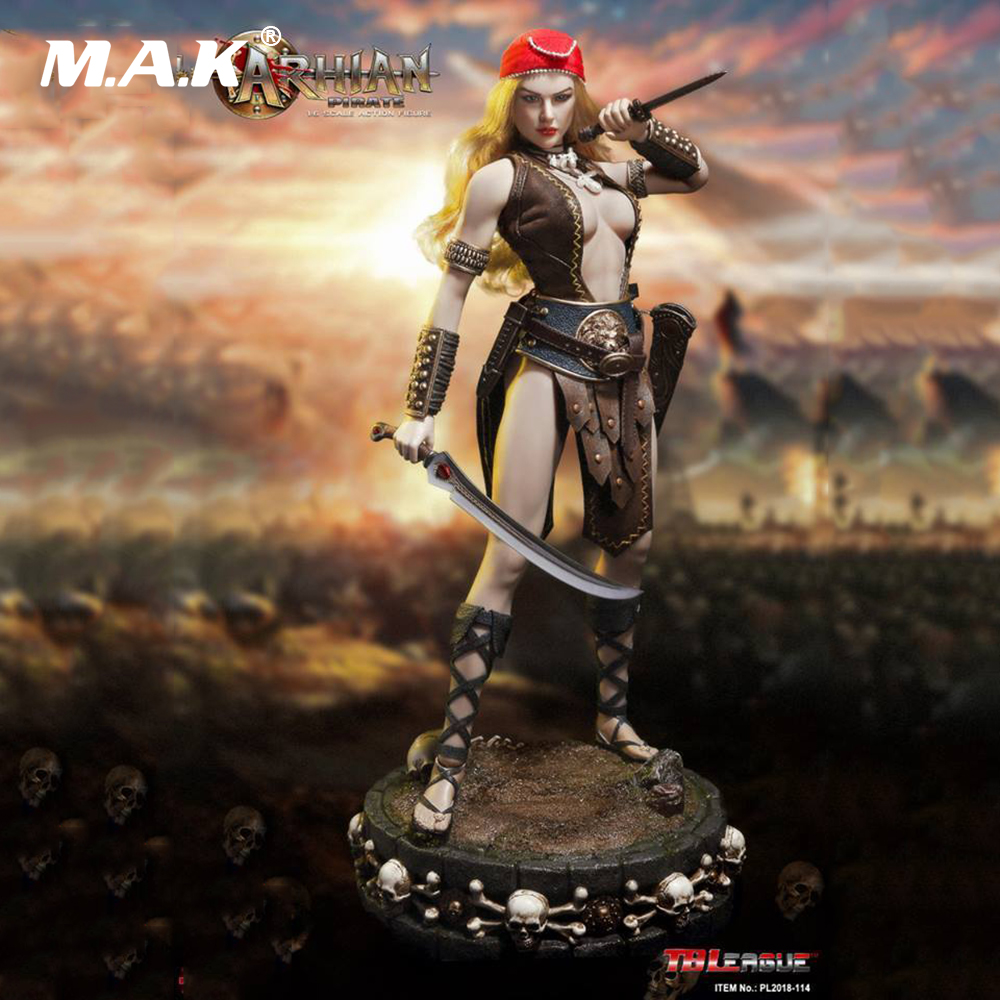 Collectible Full Set Female Action Figure 1/6 Scale BLeague PL2018-114 Woman ARHIAN PIRATE Moving Figure Model Toys for Gift tbleague pl2016 85 1 6 number female hunter arhian head huntress action figure model
