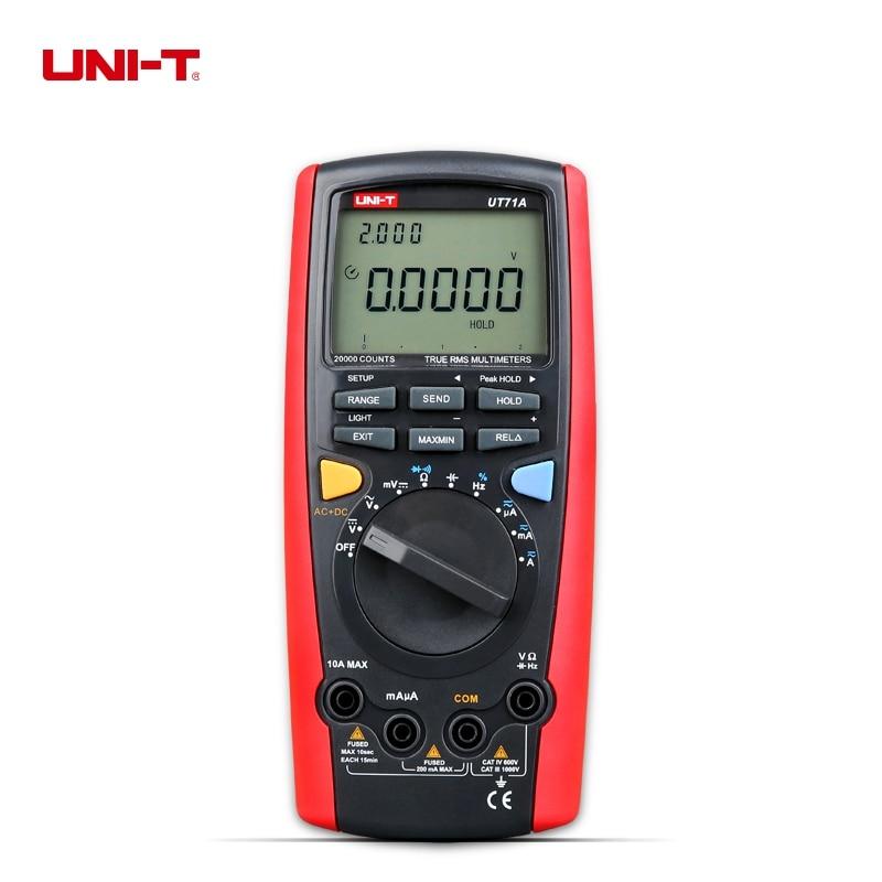 UNI-T UT71A Intelligent True RMS Digital Multimeter AC DC Current Voltage USB REL Resistance Tester Ammeter мультиметр uni t uni trend uni t ut203 rel dc ac 400a uni ut203 400a