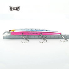 Kingdom 130mm/20g minnow fishing lures hard bait fishing tackle plastic lip VMC hook for sea water five colors model 3523