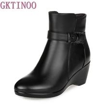 Newest Keep Warm Women Winter Boots High Quality Genuine Lea