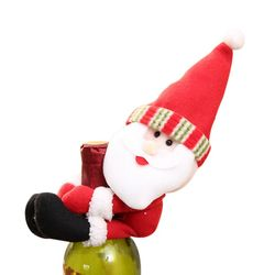 2019 New Christmas Wine Bottle Cover Snowman Santa Claus Bottle Cover Dinner Table Christmas Decorations for Home Xmas Ornaments 4