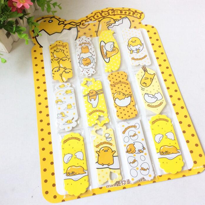 Cute Cartoon Lazy Egg Paper Cartoon Bookmark Promotional Gift Stationery Escolar Papelaria