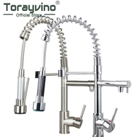 Good Quality Solid Brass Kitchen Faucet Pull Out Down Faucets Mixers Taps Swivel Hot And Cold