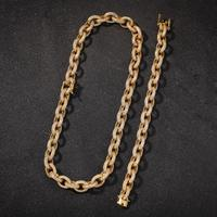 Хип хоп микро проложить AAA кубический цирконий круглый кубинский Майами цепи ожерелья Золото Серебро CZ камень КУБИНСКИЙ звено цепи для мужч