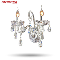 Luxury Wall Sconce Lighting European style wall lights mirror front lamp bedside lamp crystal lamp Wall lamp bedroom