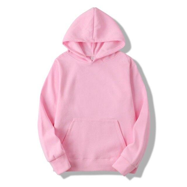 2018 New Casual pink black gray blue HOODIE Hip Hop Street wear Sweatshirts Skateboard Men/Woman Pullover Hoodies Male Hoodie 2