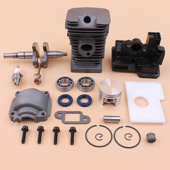 Motor Cylinder Piston Crankshaft Bearing Oil Seal Kit Fit STIHL MS180 MS170 MS 170 180 018 017 Chainsaws Gas Saws #1130 020 1208 45mm cylinder piston pin oil pump kit for oleo mac 952 master chainsaws part spark plug 50082012