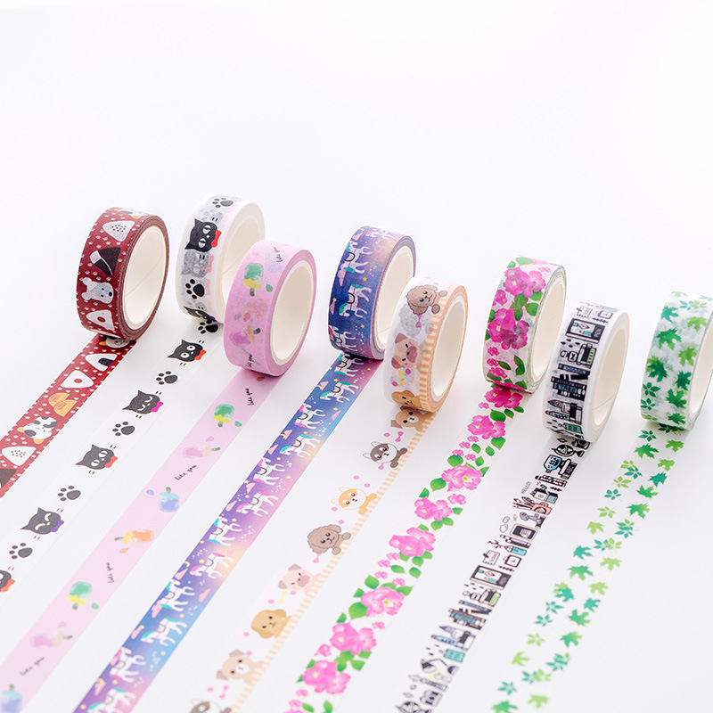 7 Meters Long Fresh Kawaii Washi Paper Washi Tape Scrapbooking DIY Decor Diary Album Notebook Caft Stationery