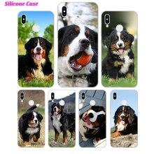 Silicone Phone Case Fashion Bernese Mountain Dog for Huawei P Smart 2019 Plus P30 P20 P10 P9 P8 Lite Mate 20 10 Pro Nova 3i