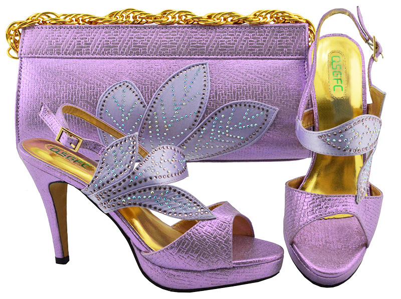 High heel 4 inches sandal shoes and clutches in lilac color for african ladies wedding aso ebi party shoes and bag set SB8164-6 fashion travel cosmetic bag makeup case multifunction organizer trousse de maquillage necessaire free shipping