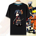 Japan Anime Naruto T-shirt Cartoon Print Sasuke Uchiha Kakashi Hatake Naruto T Shirt Summer Short Sleeve Men Tshirt