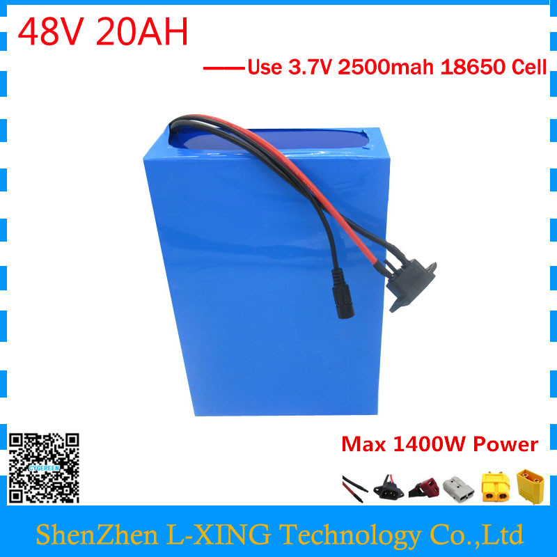 EU US no tax 48Volt electric bike battery 48v 20ah 1000W Lithium battery 48V 20AH scooter battery with BMS 54.6V 2A charger 1200w 48v scooter battery electric bike battery 48v 20ah lithium ion battery pack with pvc case 30a bms 54 6v 2a charger