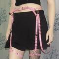 Harajuku Artesanal Chicote de Couro Sexy Gothic punk rock suspensórios Cinto Escravidão Corpo Escuro Leg Garter Belt 102208