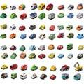 12 unids/set diseños mezclados Niños de juguetes pequeños mini tire volver juguetes autos niños encantadores juguetes