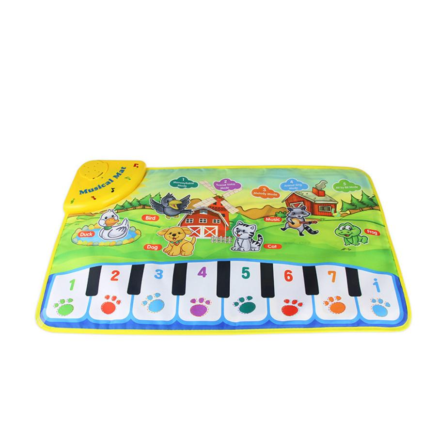 Hot Kids Baby Zoo Animal Musical Touch Play Singing Carpet Mat Toy Aug10 ...