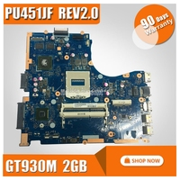 PU451JF laptop motherboard For ASUS PU451 PU451J REV2.0 HM87 socket 940 DDR3 GT 930M 2GB graphics card mainboard 100% tested