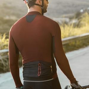 Image 4 - Santic erkekler bisiklet Jersey Pro Fit güneş koruyucu bisiklet MTB formaları uzun kollu yansıtıcı nefes asya boyutu M8C01099