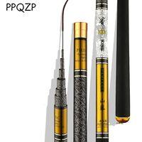 Телескопическая удочка из углеродного волокна 3,6 м-10 м пресноводный фидер, ультра легкий жесткий полюс для ловли карпа PPQZP