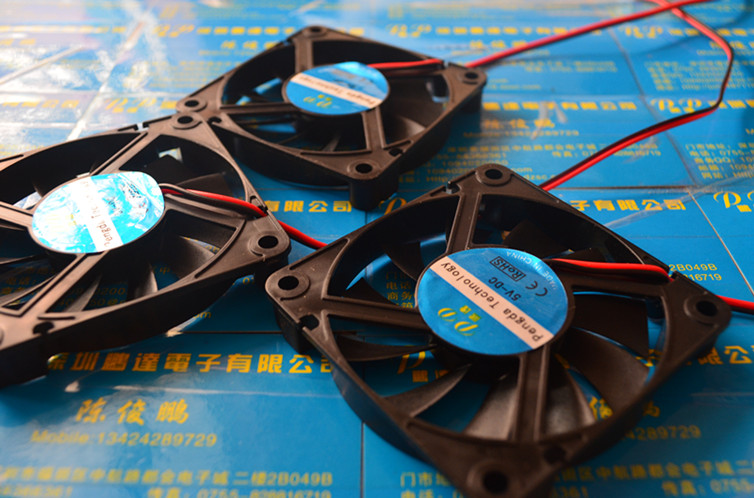 New <font><b>7010</b></font> 70MM 70*70*10MM DC 5V 12V 24V Ultra-thin Graphics Card fan Comptuter CPU Cooling fan with 2pin image